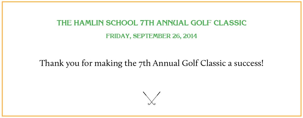 Sponsor The Hamlin Golf Classic 2014